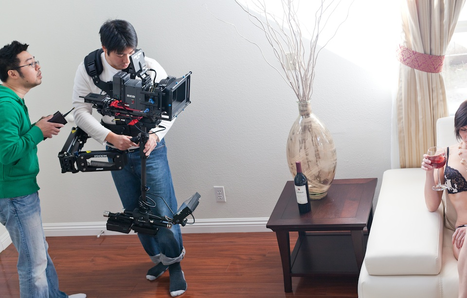 Boudoir Photo Shoot with the Steadicam Zephyr and Scarlet-X
